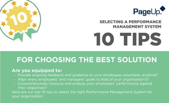 10 Tips for Selecting a Performance Management System