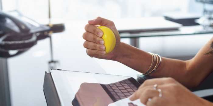 employee-with-stress-ball