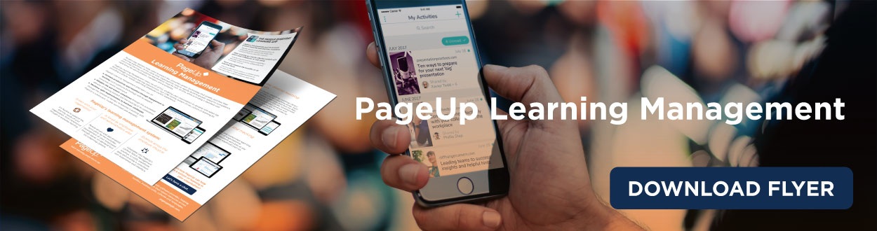 PageUp Onboarding Meets Learning Flyer
