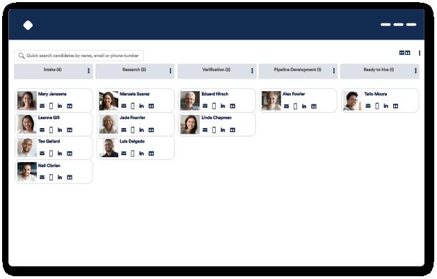 Careers website talent pipelining screenshot