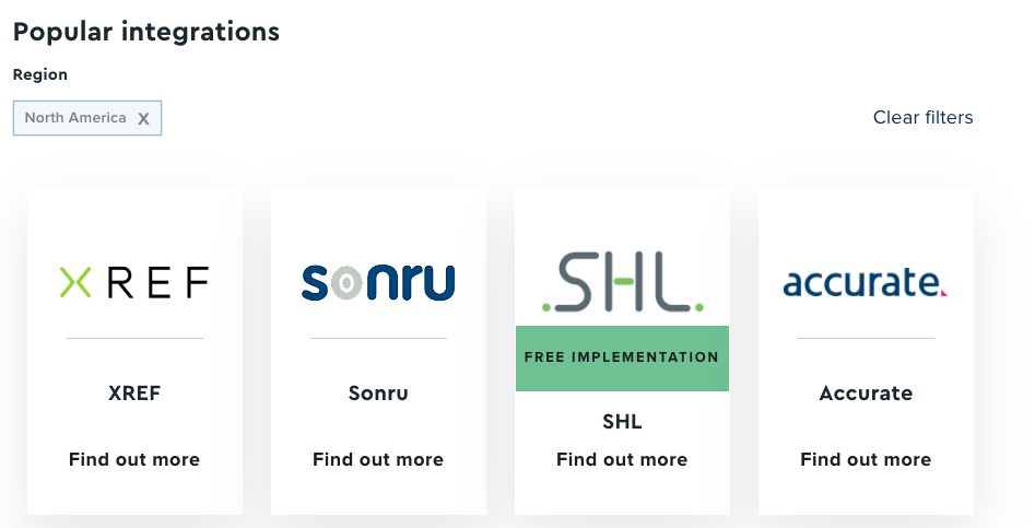 Example of recruitment software integrations